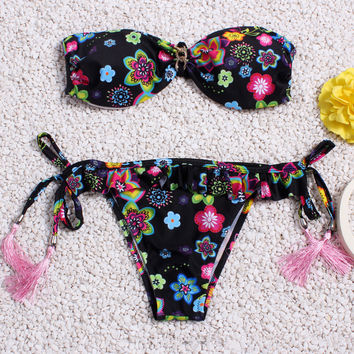 Floral Print Swimwear Bathing Suit