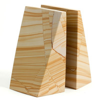 "Bey-Berk ""Natural"" Marble Bookends"