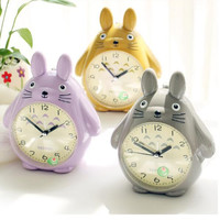 Originality Cartoon Totoro Clock Lovely Children Desk Clock Christmas Gift Student New Year Pendulum jewelry