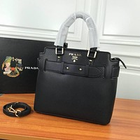 prada women leather shoulder bags satchel tote bag handbag shopping leather tote crossbody 380