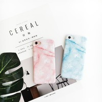 "For iPhone 7 7plus Case Marble Pattern Light Blue Pink Yellow Color Soft TPU Cover Case for iPhone 6 6s 4.7"" 6plus 6splus 5.5"""