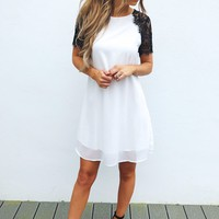 PREORDER: Where You Are Dress: White/Black