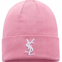 YSL Knit And Pom Hat Cap