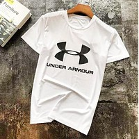 Under Armour New fashion letter print couple top t-shirt White