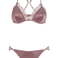 Triangle Bra and Knickers Set - Lingerie & Nightwear - Clothing