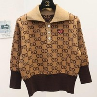 Gucci 2018 Early Spring Jacquard Embroidered Joker Sweater Jersey Short Paragraph
