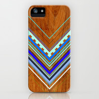 Aztec Arbutus Blue iPhone & iPod Case by House of Jennifer