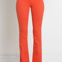 Henry & Belle Stretch Satin Micro Flare