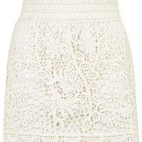 Crochet Mini Skirt - Off White