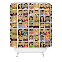Raven Jumpo Anonymous Shower Curtain