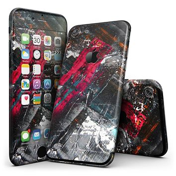 Abstract Grungy Oil Mess - 4-Piece Skin Kit for the iPhone 7 or 7 Plus
