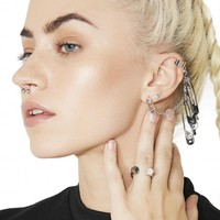 Sharp Wit Safety Pin Ear Cuff