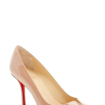 Women's Christian Louboutin 'Sophia Regina' Notched Round Toe Pump,