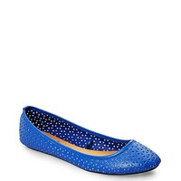 Perforated Faux Leather Flat