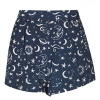 Lucille Stars and Moon High Waisted Shorts
