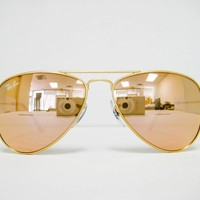 Ray Ban Kids RJ 9506 S 249/2Y Gold/Copper Flash 50mm New 100% Authentic Sunglass