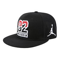 NIKE Jordan New fashion embroidery people couple cap hat Black