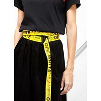 Onewel Off-White Belt Extra long Personality Mash up Trendy Fashion Belt Belt High Quality Yellow