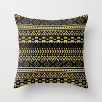 Tribal Ink Throw Pillow by Louise Machado