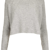 Knitted Ribbed Crop Jumper - Knitwear - Clothing - Topshop USA
