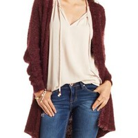 Fuzzy Open Front Cardigan Sweater by Charlotte Russe