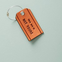 Not Yours Leather Luggage Tag
