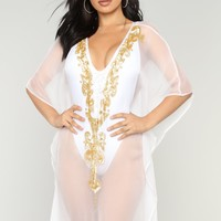 Instant Getaway Cover Up Dress - White