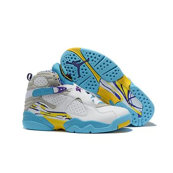 Air Jordan 8 Retro White/Blue/Yellow Size 40-47