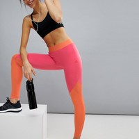 adidas Training Color Block Logo Legging at asos.com