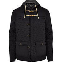 River Island MensNavy blue quilted casual jacket