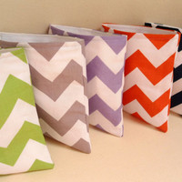 """Reusable Eco Chevron Snack and Sandwich Bags, 7"""" x 7"""", School Supplies Lunch Bags Pacifier Pouch"""