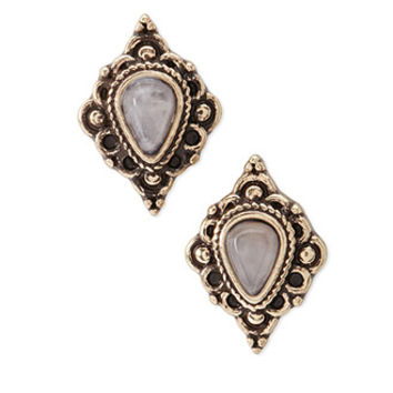 Etched Faux Stone Studs