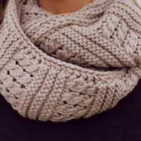 Never Fails Infinity Scarf - Taupe