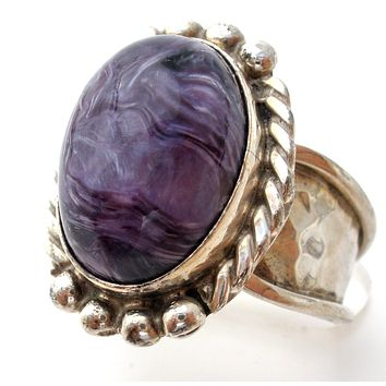 Jay King Purple Charoite Ring Size 7