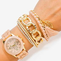 Jelly Chain Bangle Accent Arm Candy
