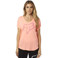 Fox Racing RESPONDED V NECK ROLL SLEEVE TEE - Women's - FoxRacing.com