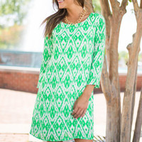 Swoon We'll See Dress, Green