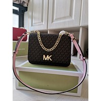 Michael Kors MK Women Leather Shoulder Bags Satchel Tote Bag Handbag Shopping Leather Tote Crossbody