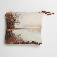 Linen Purse English Romantic red lake