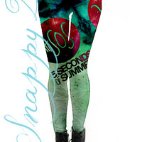 5SOS Grunge Leggings Custom Printed.  Custom printed One direction grunge high quality leggings.  Love One Direction