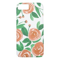 Tropical Roses - Watercolor Flowers iPhone 7 Case