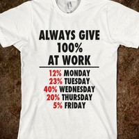 Always give 100% at work. - Marvel Designs