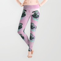 Artistic Mr Pug Dog Leggings by MNA Art