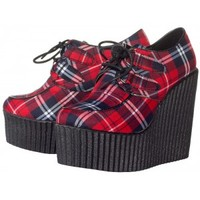 PRETTY VACANT CREEPER WEDGES PLAID
