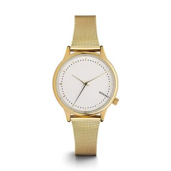 KOMONO Estelle Royale Watch in Gold White