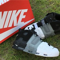 Nike Air More Uptempo Air Black Grey White Shoes Us7 12 | Best Deal Online