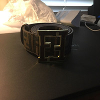 Lightly Used Brown Fendi Leather Belt 46/115