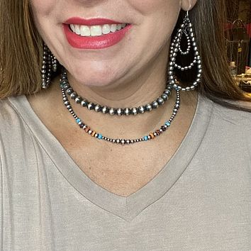 16 inch Spiny, Turquoise & Navajo Pearl Genuine Necklace