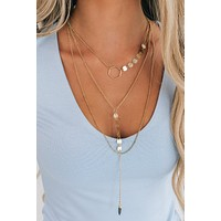 Let It Rock Layered Necklace (Gold)