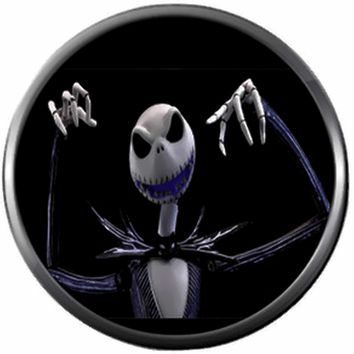 Scary Jack Skellington Halloween Town Nightmare Before Christmas 18MM - 20MM Snap Jewelry Charm